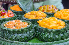 Thai sweet dessert Stock Photos