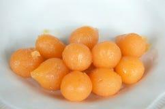 Thai sweet golden ball Stock Photos
