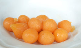 Thai sweet golden ball Royalty Free Stock Image