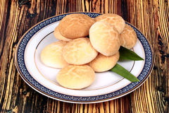 Thai sweet meat made of roasted flour, egg and sugar. royalty free stock photo