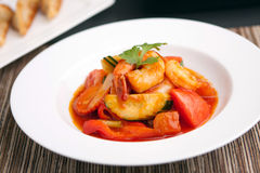 Thai Sweet and Sour Shrimp Royalty Free Stock Photography