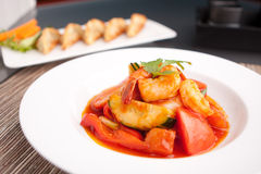 Thai Sweet and Sour Shrimp Royalty Free Stock Image