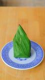 Thai sweetmeat in banana leaf Stock Photo