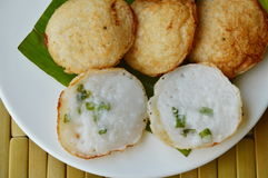 Thai sweetmeat coconut pudding called Kanom Krok Royalty Free Stock Photography