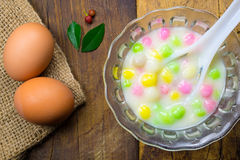 Thai sweetmeat with colorful ball Stock Images