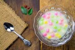 Thai sweetmeat with colorful ball Royalty Free Stock Images