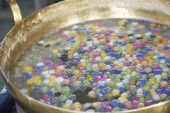 Thai sweetmeat with colorful ball flour (Bua Loi).  Royalty Free Stock Photo