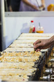 Thai sweetmeat cooking out door in Bangkok of Thailand. Stock Photo