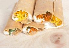 Thai Sweetmeat or Crispy Pancake. Thai Sweetmeat or Crispy Pancake on Wooden Board Stock Photography