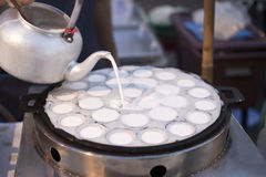 Thai sweetmeat fried dessert in cooking Stock Photography