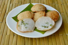 Thai sweetmeat grilled coconut cream hotcake called Kanom Krok Stock Photos