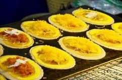 Thai sweetmeat Khanom Buang (a kind of filled pancake) Royalty Free Stock Photo