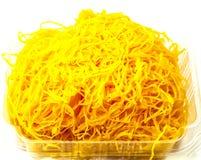 Thai sweetmeat. Made of egg yolk Royalty Free Stock Photo