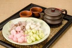 Thai sweetmeat, Thai dessert Stock Photos