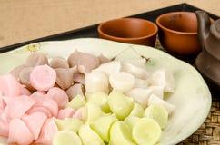 Thai sweetmeat, Thai dessert Stock Images