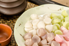 Thai sweetmeat, Thai dessert Stock Photo