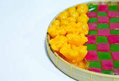 Thai sweets. Made with egg and sugar Stock Photography