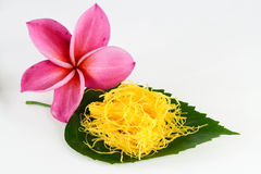 Thai sweets on the leaf Stock Image
