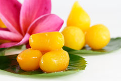 Thai sweets on the leaf Stock Photo