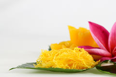 Thai sweets on the leaf Royalty Free Stock Image