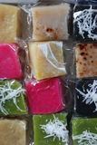 Thai sweets. On the market in Thailand encountered this beautiful and colourful puddings Stock Images