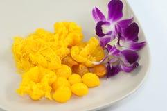 Thai sweets, thong yot the thai eggdrop sweet Stock Photo