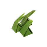 Thai sweets wrapped in banana leaf Stock Photography