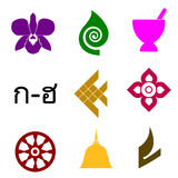 thai symboler Fotografering för Bildbyråer