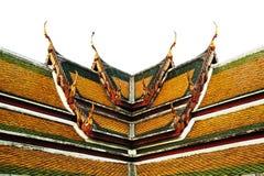 thai taktempel Arkivfoton