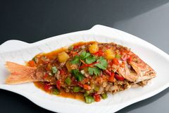 Thai Tamarind Red Snapper Royalty Free Stock Image