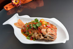 Thai Tamarind Red Snapper Stock Photo