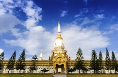 Thai tample Wat Phra Mahathat Chedi Chaimongkol Royalty Free Stock Photo