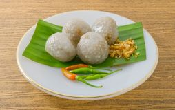 Thai Tapioca Balls Filled with Minced Pork Royalty Free Stock Photography