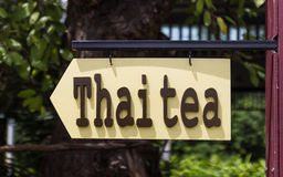 Thai tea banner Royalty Free Stock Photos