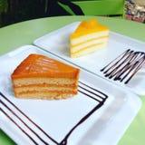 Thai Tea cake Royalty Free Stock Images