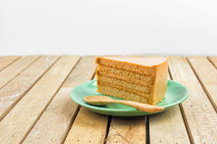 Thai tea cake Stock Image