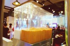Thai tea in Dispenser Machine stock images