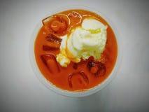 Thai tea with ice cream vanilla stock photos