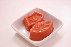 Thai tea jelly Thai's dessert Stock Photography