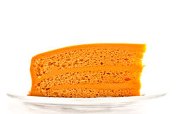 Thai tea soft layer cake 1 Royalty Free Stock Photography