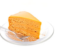 Thai tea soft layer cake 2 Royalty Free Stock Photography
