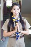Thai teacher girl scouts Royalty Free Stock Photo