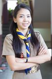 Thai teacher girl scouts Royalty Free Stock Photo