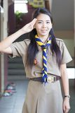 Thai teacher girl scouts Stock Photo