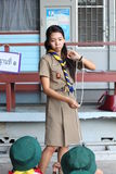 Thai teacher girl scouts Stock Photography