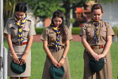 Thai teacher scout camp Royalty Free Stock Photo