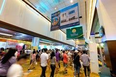 Thai Teaw Thai exhibitors label at Queen Sirikit National Conven. Bangkok, Thailand - March 6, 2016: Thai Teaw Thai exhibitors at Queen Sirikit National Royalty Free Stock Photo