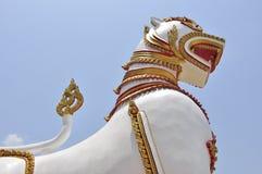 thai tempel för guardlionstutue Royaltyfri Foto