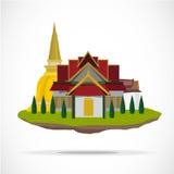 thai tempel slott - Arkivfoton