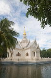 Thai temple. On the pond Stock Image